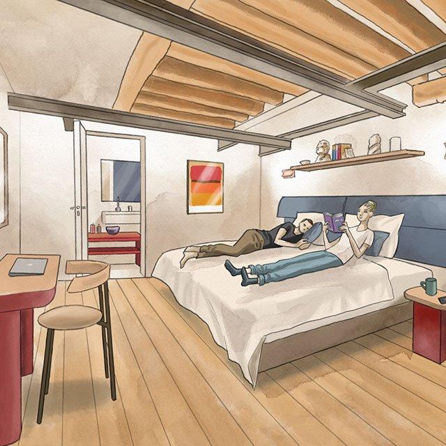 Chambres confortables pour se reposer après une longue journée !
